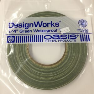 "Tape 1/4"" Green Waterproof"