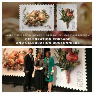 Celebration Postage Stamps.  A Beautiful Tribute to the Floral Industry.